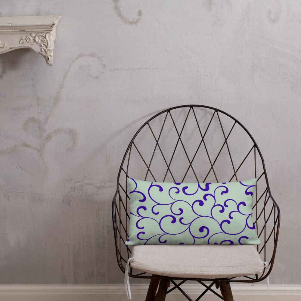 rectangle cushion green Prachtige Design Kussens