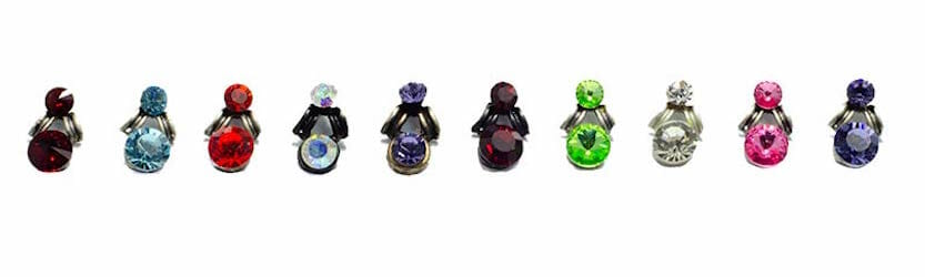 colours for the necklace sets Swarovski earrings