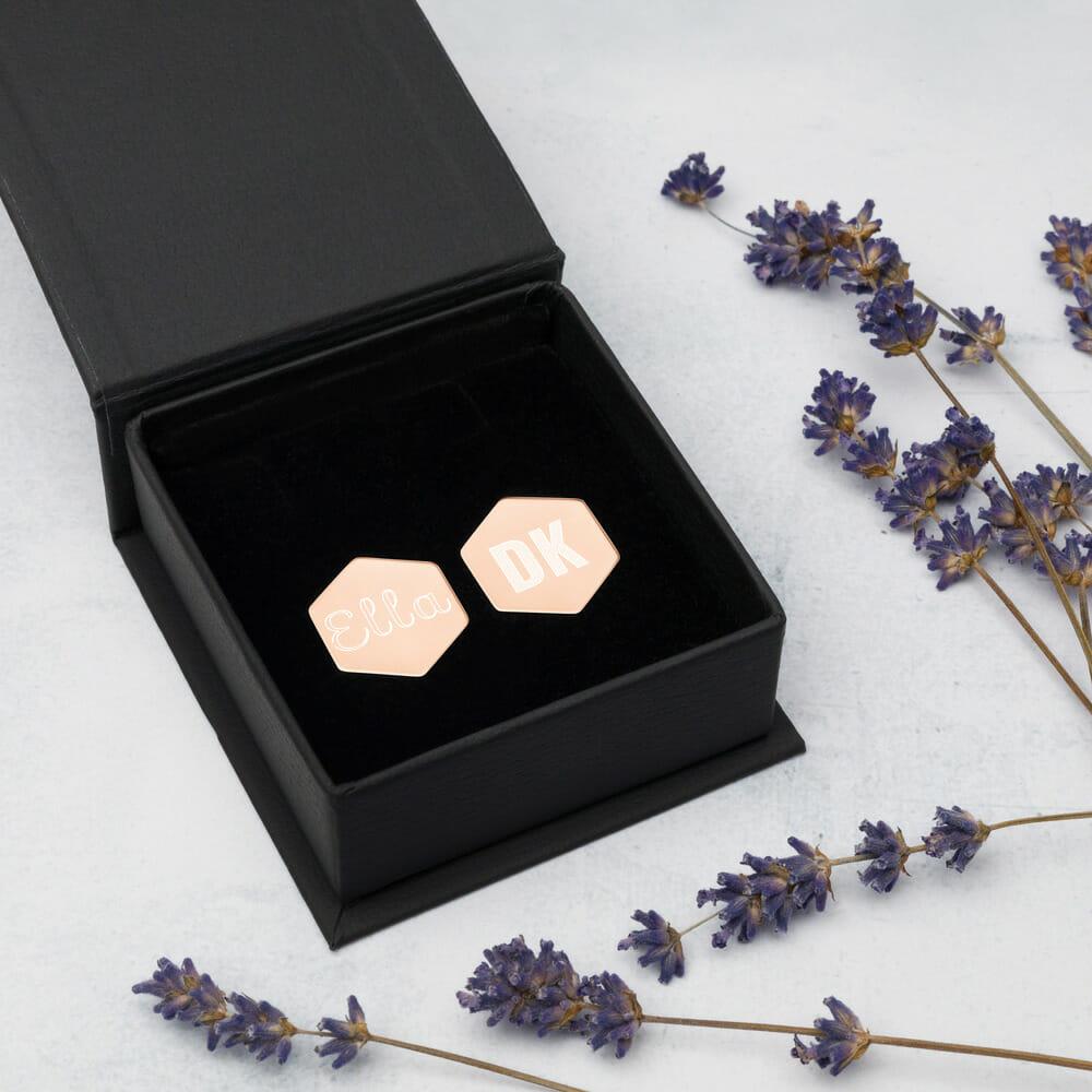 Ohrstecker silber rosa oder gold